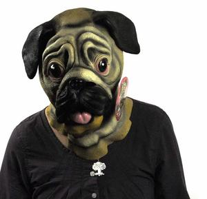Pug Dog  Head - Lifesize Head Mask Thumbnail 4