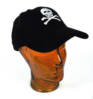 Pirate Skull & Crossbones - Yachting / Boating Peaked Cap Thumbnail 1