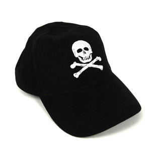 Pirate Skull & Crossbones - Yachting / Boating Peaked Cap Thumbnail 3