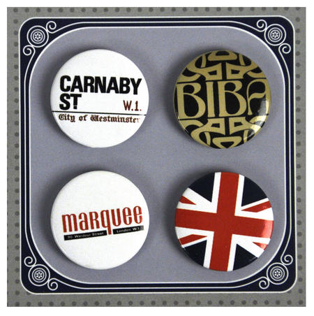 Swinging 60's London Button Badges