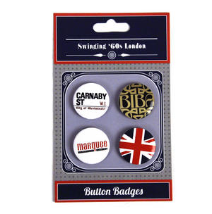 Swinging 60's London Button Badges Thumbnail 2
