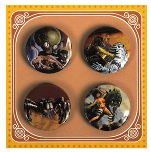 B Movie Monsters Button Badges Thumbnail 1