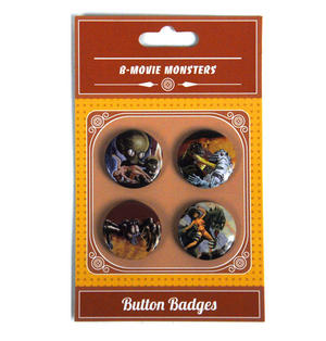 B Movie Monsters Button Badges Thumbnail 2