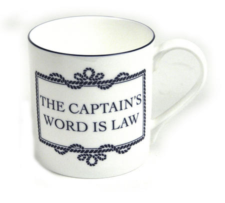 Captain's Word Is Law Mug