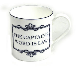 Captain's Word Is Law Mug Thumbnail 1