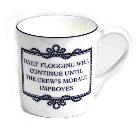 Daily Flogging Will Continue Until Morale Improves Mug