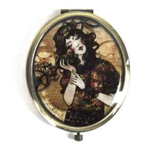Willow Oval Compact Mirror - The Mechanic  Of My Heart