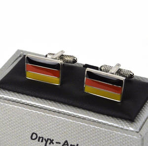 Cufflinks - German Flag / Deutsch Flagge Thumbnail 1
