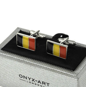 Cufflinks - Belgian Flag Thumbnail 1