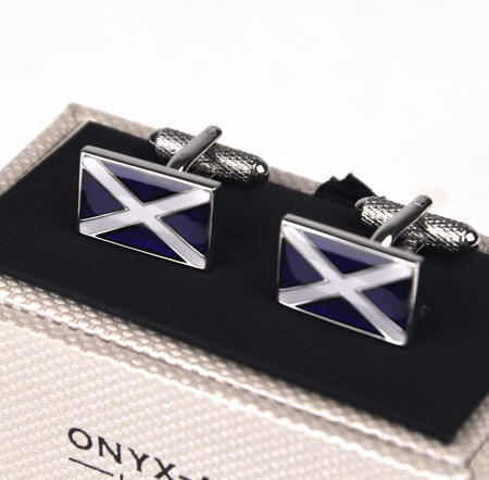 Cufflinks - Scottish Flag