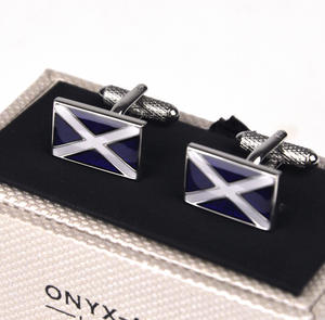 Cufflinks - Scottish Flag Thumbnail 1