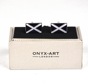 Cufflinks - Scottish Flag Thumbnail 2