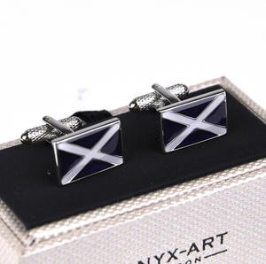 Cufflinks - Scottish Flag Thumbnail 3