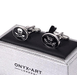 Cufflinks - Skull And Crossed Swords Thumbnail 2