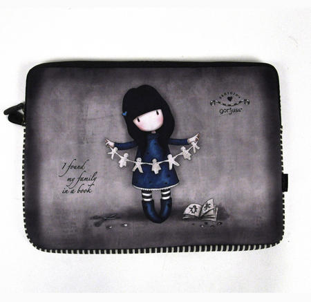 Gorjuss 15 Inch Laptop Sleeve I Found My Family In A Book