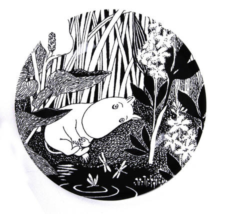 Moomin Dessert Plate The Dreaming