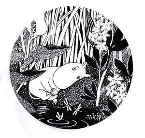 Moomin Dessert Plate The Dreaming Thumbnail 1