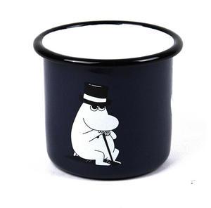 Muurla 37 cl Enamel Moomin Pappa Mug, Dark Blue Thumbnail 2