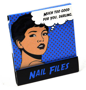 Pop Art Nail Files Much Too Good For You Darling Thumbnail 2