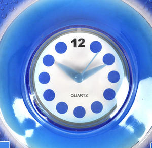 Blue Translucent Shower Clock Thumbnail 2
