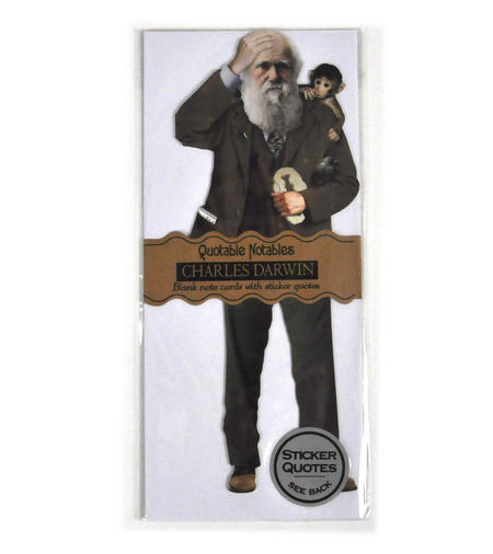 Charles Darwin Quotable Notable - Greeting Card With Sticker Quotes