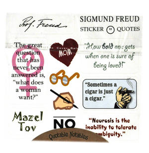Sigmund Freud Quotable Notable - Greeting Card With Sticker Quotes Thumbnail 2