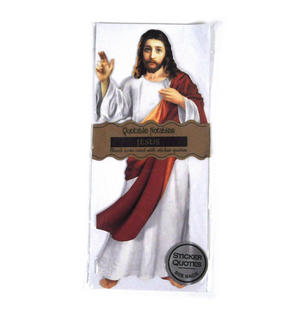 Jesus Christ Quotable Notable - Greeting Card With Sticker Quotes Thumbnail 1