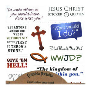 Jesus Christ Quotable Notable - Greeting Card With Sticker Quotes Thumbnail 2