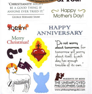 Jesus Christ Quotable Notable - Greeting Card With Sticker Quotes Thumbnail 3