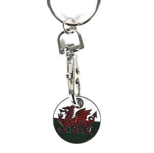 Welsh Dragon Keyring / Trolley Token Thumbnail 1
