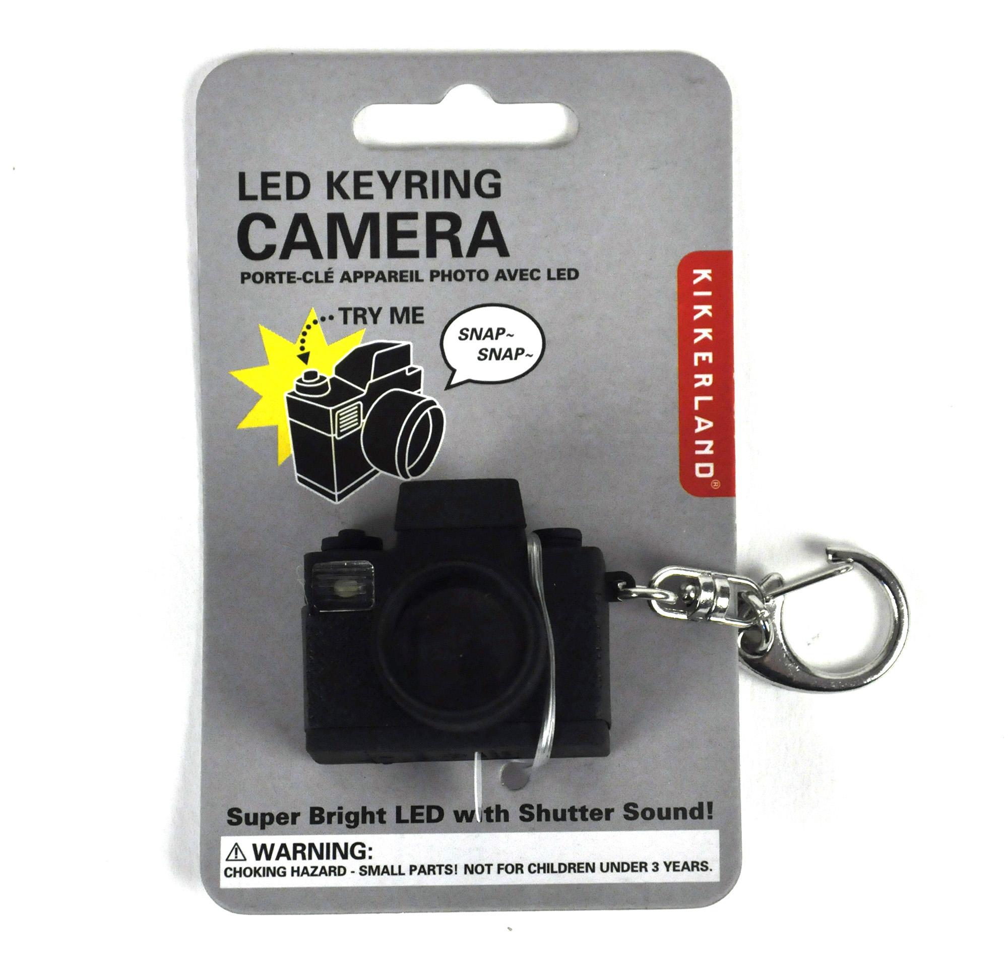 Led Keyring Camera Flash With Sound Effect   Pink Cat Shop