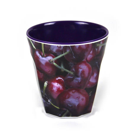 Cherries - Fluted Melamine Beaker
