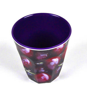 Cherries - Fluted Melamine Beaker Thumbnail 2