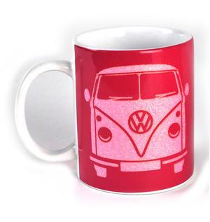 Volkswagen Pink Glitter Mug Thumbnail 2