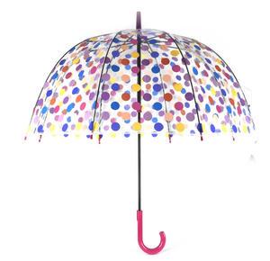 Spotty Birdcage Full Dome Umbrella - Transparent