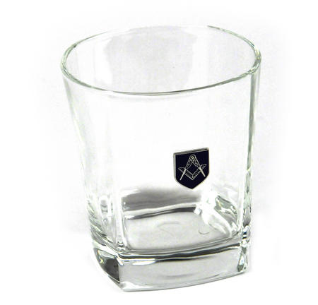 Masonic Whiskey / Mixer Tumbler Glass