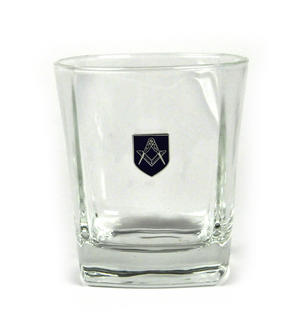 Masonic Whiskey / Mixer Tumbler Glass Thumbnail 2