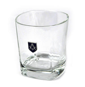 Masonic Whiskey / Mixer Tumbler Glass Thumbnail 3