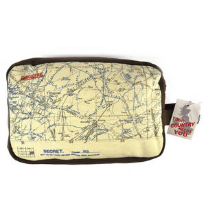 Top Secret 'Your Country' Tough Washbag - Confidential Operations Trench Map Thumbnail 5