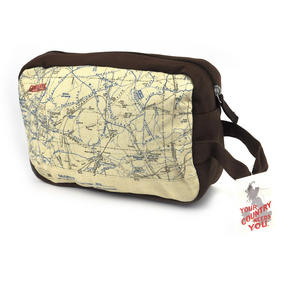 Top Secret 'Your Country' Tough Washbag - Confidential Operations Trench Map Thumbnail 6
