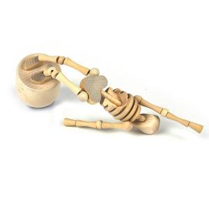 Lazy Bones - Wooden Collapsing Skeleton Man String Puppet Thumbnail 7