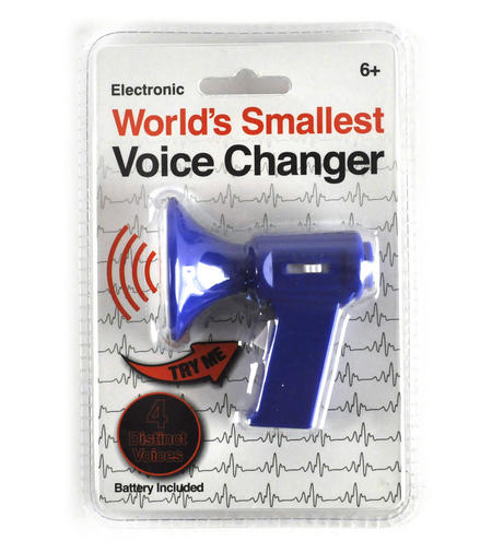 Worlds Smallest  Voice Changer - 4 Distinct Voices