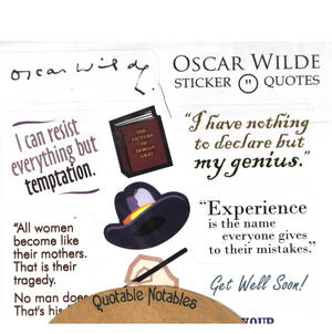 Oscar Wilde Quotable Notable - Greeting Card With Sticker Quotes Thumbnail 3
