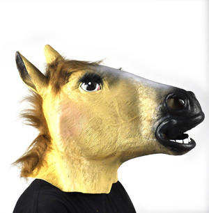 Lady Horse - Lifesize Head Mask Thumbnail 3