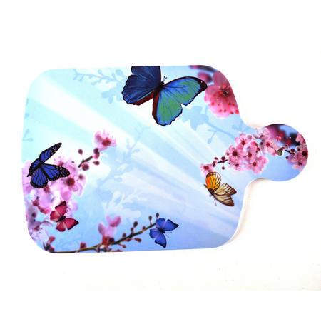 "Butterflies - Melamine Chopping Board 34cm / 8.5"" X 13"""