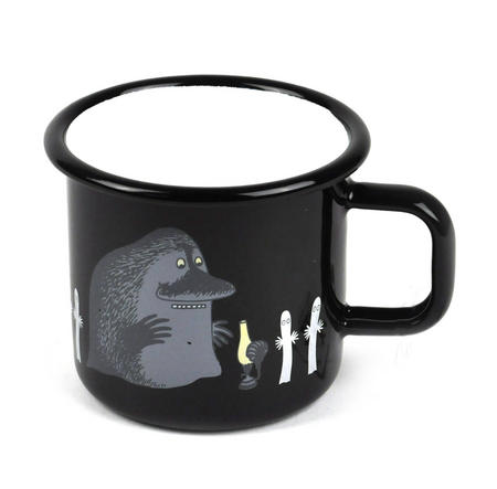 Groke and Hattifateners - Moomin Muurla Enamel Mug- 37 cl