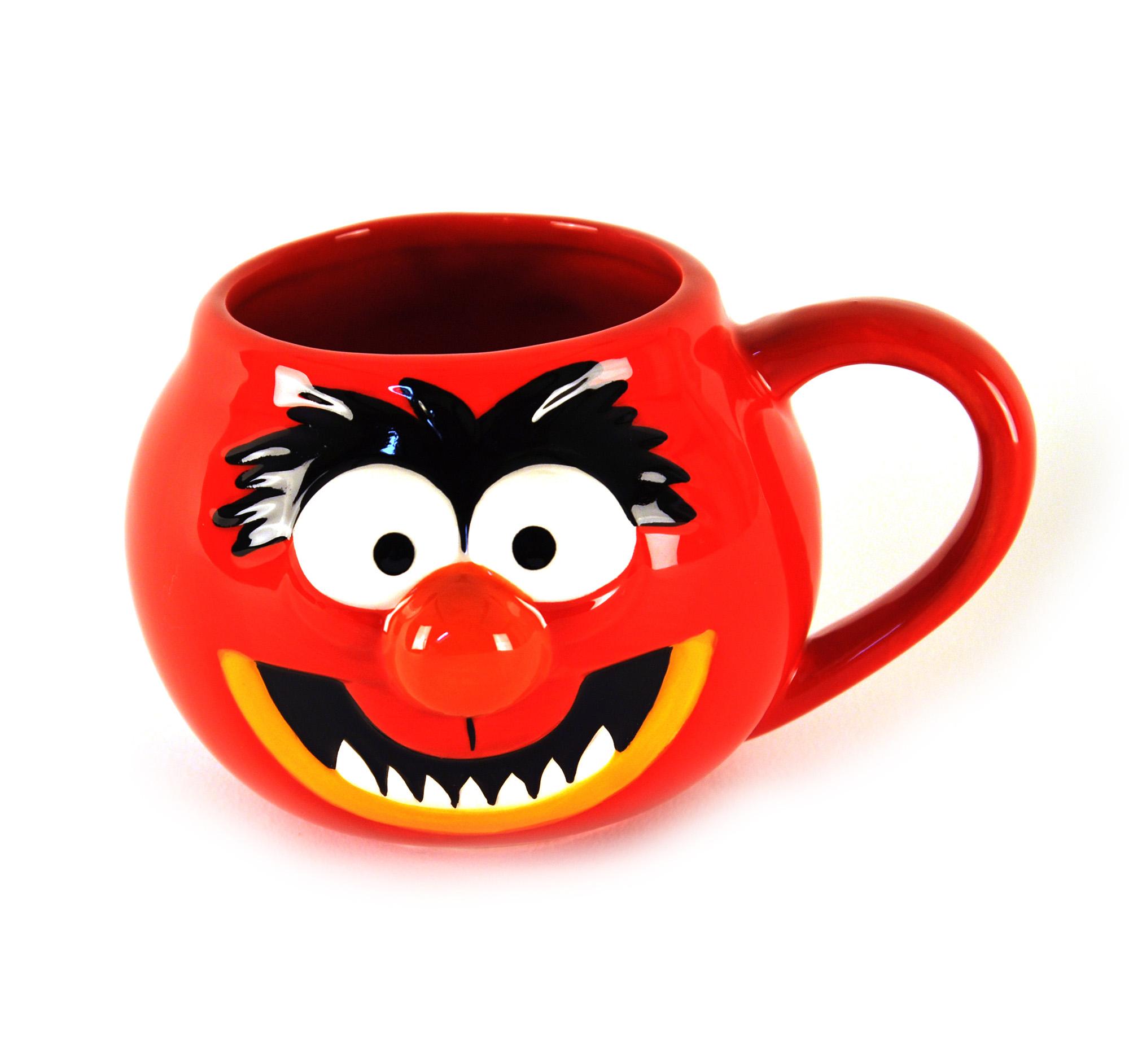 Animal head muppet mug pink cat shop for Animal face mugs