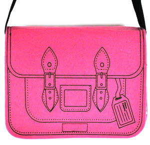 Felt Supermodel Satchel - Superpink Thumbnail 1