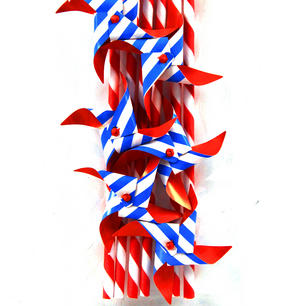 Pinwheel Paper Straws (Pack of 6) Thumbnail 1