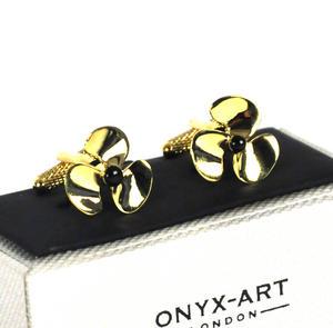 Cufflinks - Gold Propellers Thumbnail 3